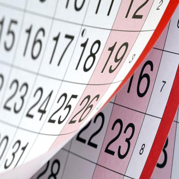 Shooting event calendar design graphics