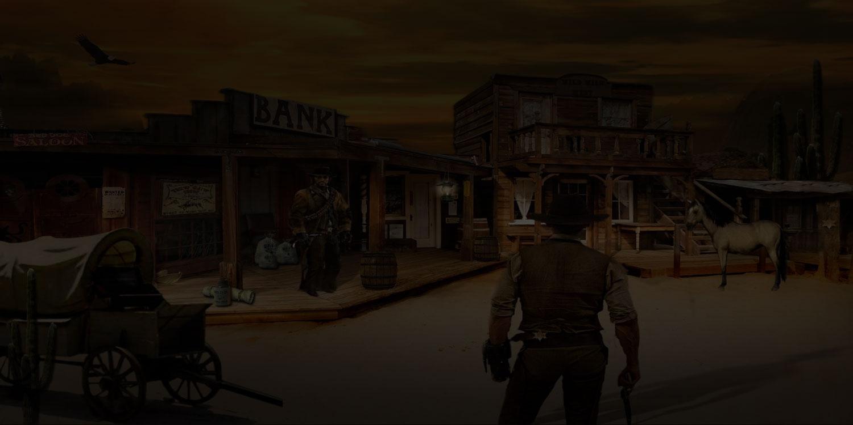 wild west town design graphics